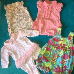 4 piece baby lot girl Ralph Lauren 3 month outfit